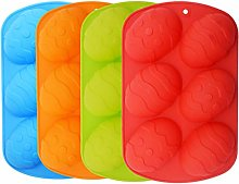Easter Silicone Mould, 4Piece 6-Cavity Silicone