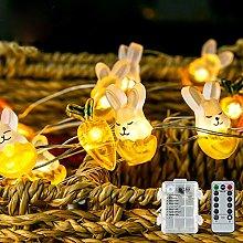 Easter String Light, 40 LED 3M Rabbit Bunny Fairy