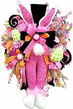 Easter Thief Bunny Butt Wreath, 13 Styles, With