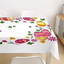 Easter Waterproof Tablecloth Rectangular, DOTBUY