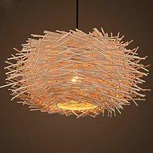 EASTYY Creative Grass Rattan Pendant Light E27