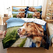 Easy Care Duvet Cover Animal Dog Pattern Duvet