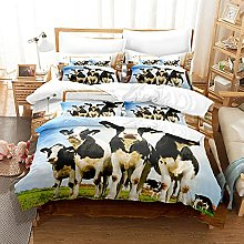 Easy Care Duvet Cover Black and White Animal Cow