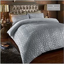 Easy Care Teddy Star Foil Fleece Duvet Cover Set