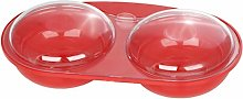 Easy Cook NS606R Microwave Egg Poacher, red, 2 cup