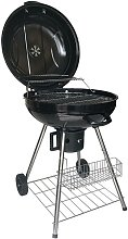 EASY GRILL - Round Charcoal Barbecue - Black