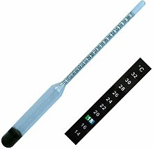 Easy Read Hydrometer & Self Adhesive Thermometer
