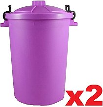 Easy Shopping 2 x PURPLE 85 Litre 85L Extra Large