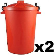 Easy Shopping 2 x RED 85 Litre 85L Extra Large