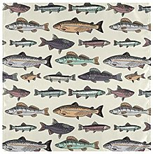 Easy to Clean Ocean Sea Vintage Fishes Seamless