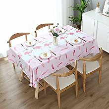 Easy-to-wipe Tablecloth Printed Coffee Tablecloth
