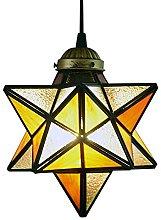EasyGame-Yellow Glass Moravian Star Pendant
