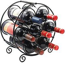 EasyPAG Metal 7 Bottles Wine Rack, Freestanding