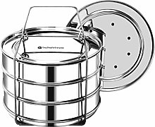 EasyShopForEveryone Stackable Steamer Insert Pans