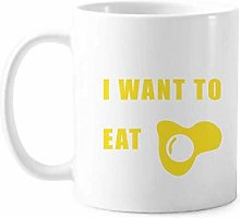 Eat Egg Desire Life Art Deco Gift Fashion Mug