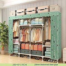 EATCANON Portable Wardrobe Oxford Cloth Folding