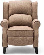 Eaton Herringbone Recliner Chair - Beige