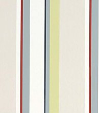 Eaton Stripe Natural Multi Wallpaper Stripes Duck