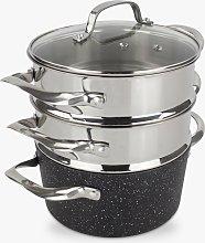 Eaziglide Neverstick2 Pot 3-Tier Steamer Set