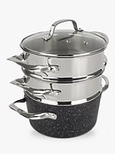 Eaziglide Neverstick2 Pot 3-Tier Steamer Set