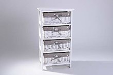 EAZYGOODS Bedside Cabinet Table Draw Shabby Chic