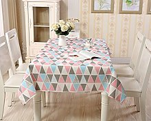 Eazyhurry Cotton Linen Colorful Triangle Print