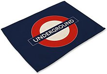 eazyhurry London Underground Sign Print Cotton