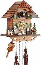 Eble Cuckoo Clock Real Wood Battery Operated