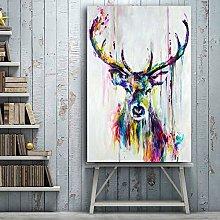 EBONP Wall decorative canvas painting Watercolor
