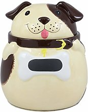 Ebros Ceramic Adorable Fat Puppy Dog With Brown