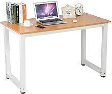 EBTOOLS Computer Desk, Modern Simple Design Walnut