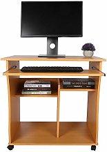 EBTOOLS Computer Desk,Wooden Portable Computer