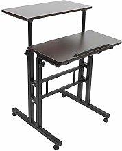 EBTOOLS Computer Desk,Wooden Stand Up Laptop Desk