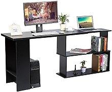 EBTOOLS Corner Computer Desk,L-Shape PC Laptop