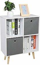 EBTOOLS Cube Bookcase,4 Cube Freestanding