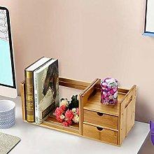 EBTOOLS Desktop Bookcase,Bamboo Wood Extendable