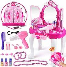 EBTOOLS Household Toys,Girls Pink Dressing Table