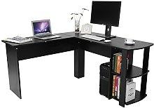 EBTOOLS L-shaped Computer Desk, Black Office Desk