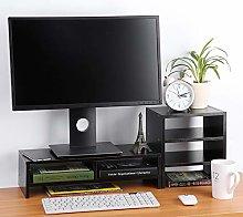 EBTOOLS Monitor riser, 2-layer wooden monitor