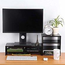 EBTOOLS Monitor Stand,2 Tiers Wooden Desktop