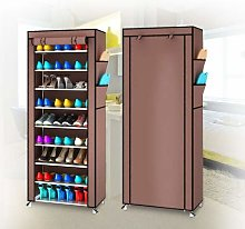 EBTOOLS Shoe Rack,10 Tier DIY Shoe Cabinet Tower