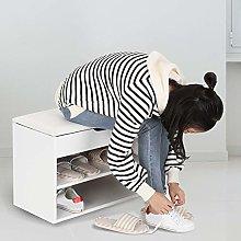 EBTOOLS Shoes Cabinet,2 Tier Wooden Shoe Bench
