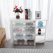 EBTOOLS White Shoe Cabinet Shoe Rack Multi-Purpose