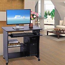 EBTOOLS Wooden Computer Desk,Movable Portable