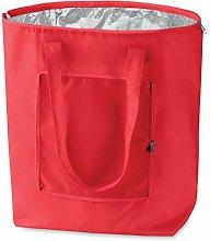 eBuyGB 1205205 Folding Cooler Bag, Polyester, Red,
