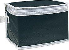 eBuyGB 6 Can Cooler Bag, Non Woven, Black
