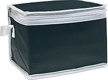 eBuyGB 6 Can Cooler Bag, Non Woven, Black