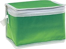 eBuyGB 6 Can Cooler Bag, Non Woven, Green