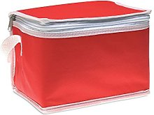 eBuyGB 6 Can Cooler Bag, Non Woven, Red
