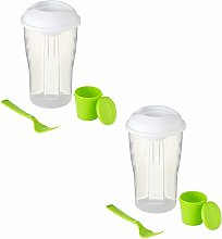 eBuyGB 900 ml Salad to Go Lunch Box Container With
